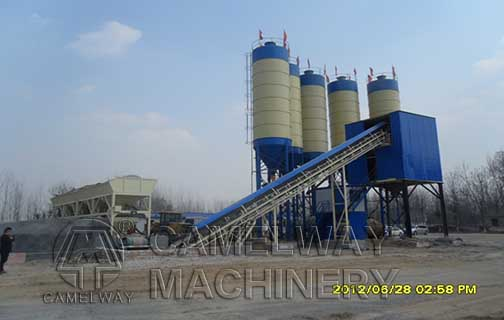 electronic concrete batching plant